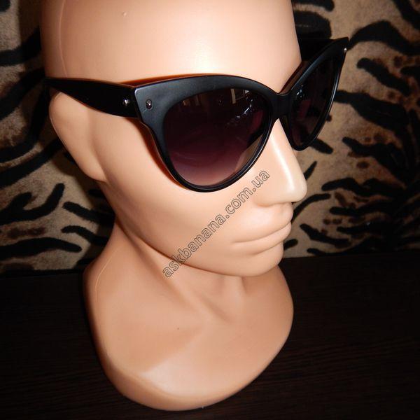 Модные Ретро увеличенные Кэт Ай Cat Eye солнцезащитные очки. Черные матовые   цена, описание fa339060927