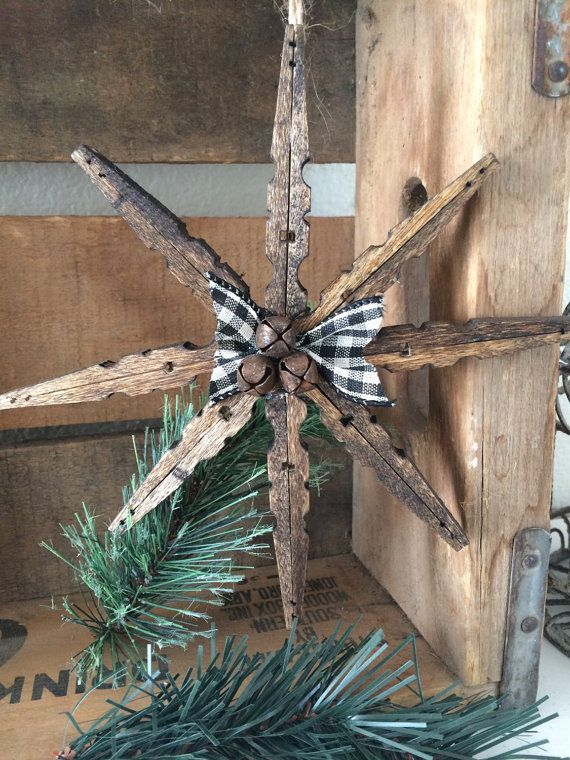 Clothes pin snowflake ornament   Diy christmas crafts to ...