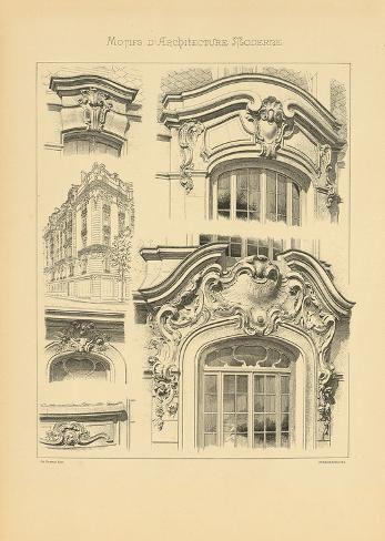'Motifs D'architecture Moderne I' Premium Giclee Print - Schmidt Schmidt | Art.com
