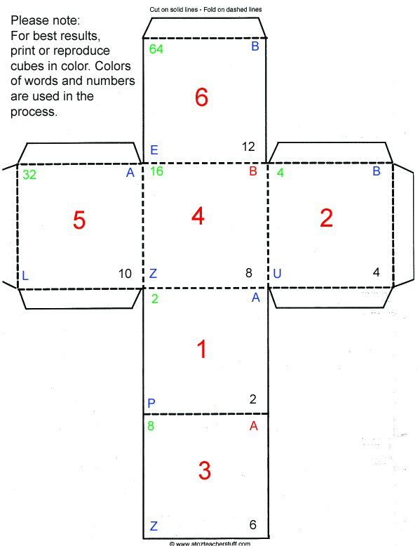 cube pattern make unmake Pinterest Cube, Homeschool and Math - inquiry letter