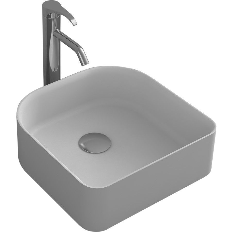 New Online Prodigg 400 Cool Above Counter Top Washbasin Stone Solid Surface Square Shape Countertops Basin Wash Basin