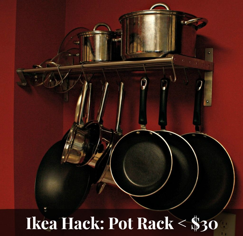 been there done that ikea hack pot rack under 30