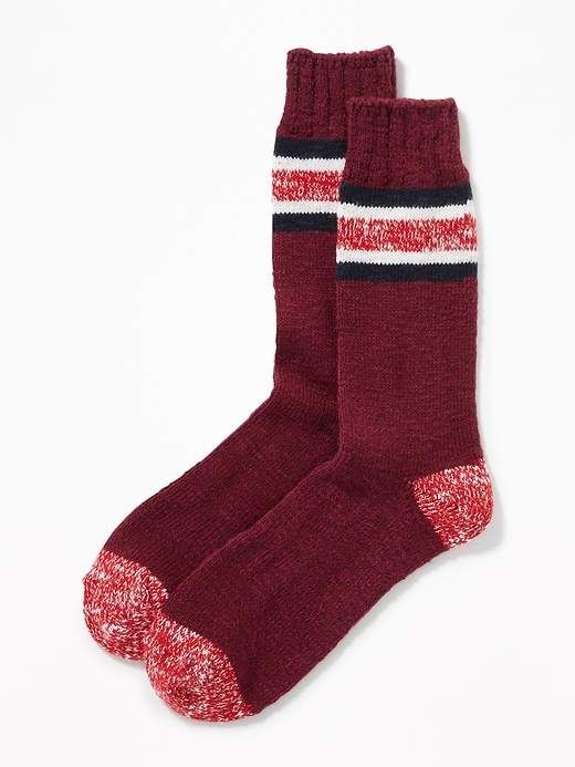 b7f62baae3eb Old Navy Striped Go-Warm Crew Socks for Men