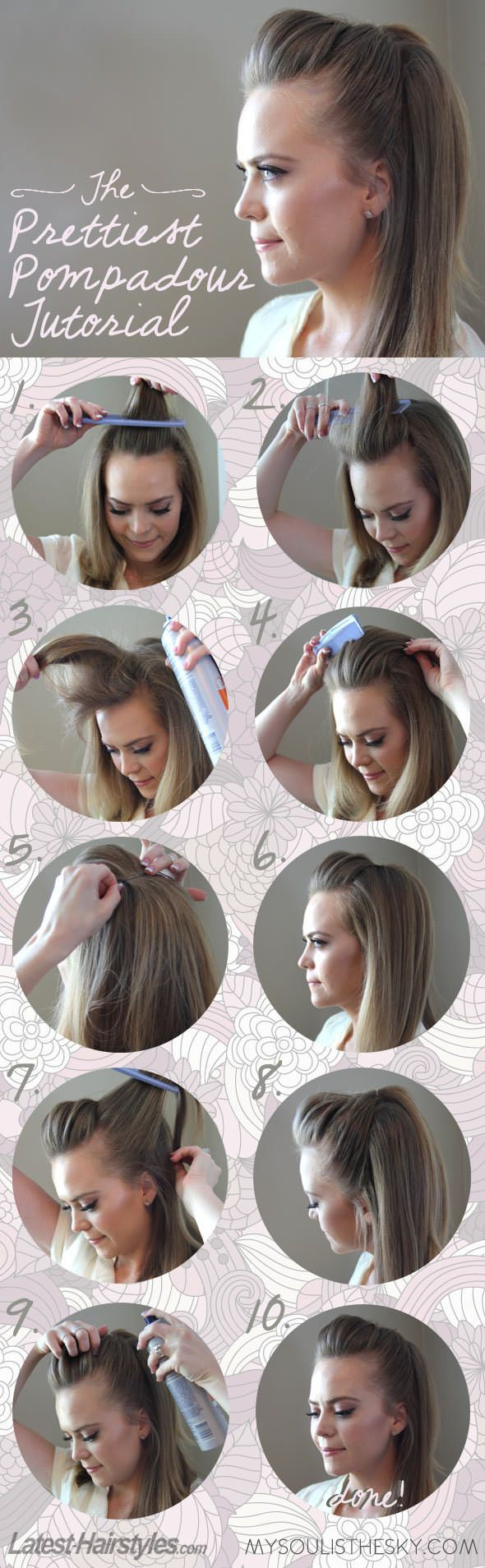 Pompadour tutorial hairstyle pinterest pompadour tutorials