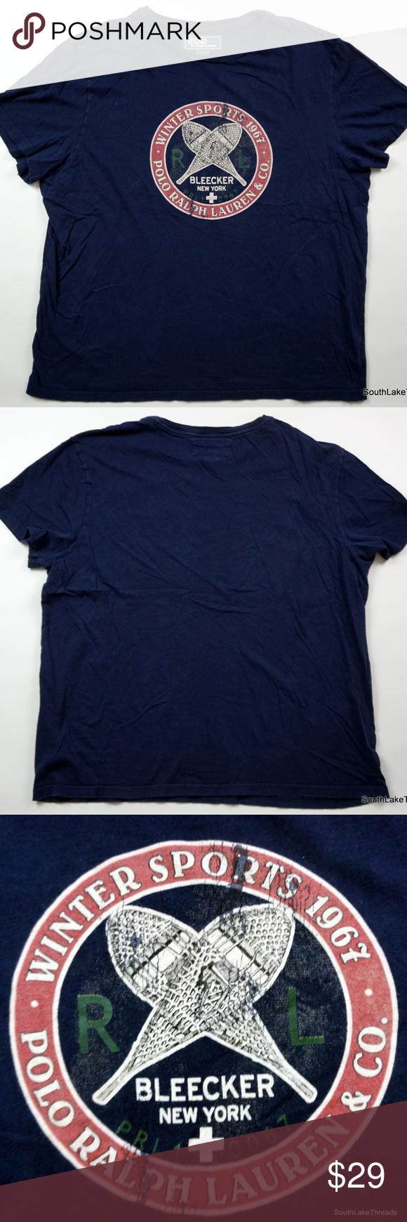 60d50cbb VTG Polo Ralph Lauren Winter Sports T-Shirt XL VTG Polo Ralph Lauren Men's  Winter