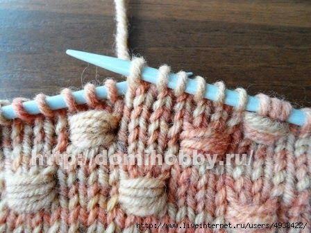 Punto entrelazado tejido a dos agujas paso a paso en - Tejidos en dos agujas paso a paso ...