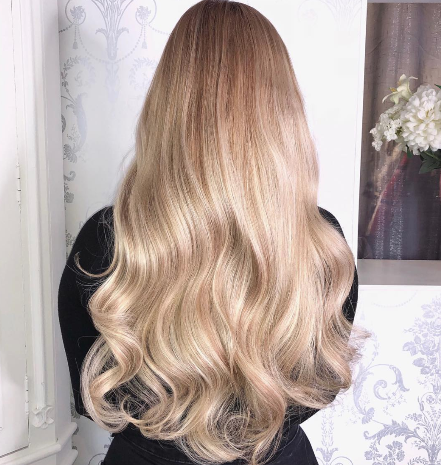 22 Inch Clip In Bohemian Blonde Hair Extensions Beauty Works Hair
