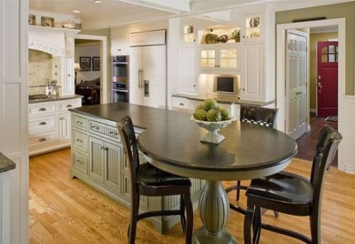 Oval Kitchen Island Design Round Islands R Witherspoon