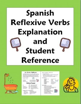 Spanish Reflexive Verbs Explanation and Student Reference by Sue Summers