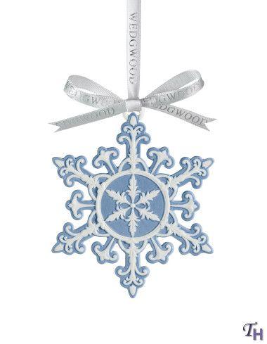 Wedgwood snowflake ornament