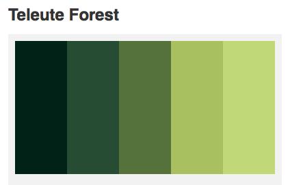 Forest Natural Green Color Palette Wedding Colors
