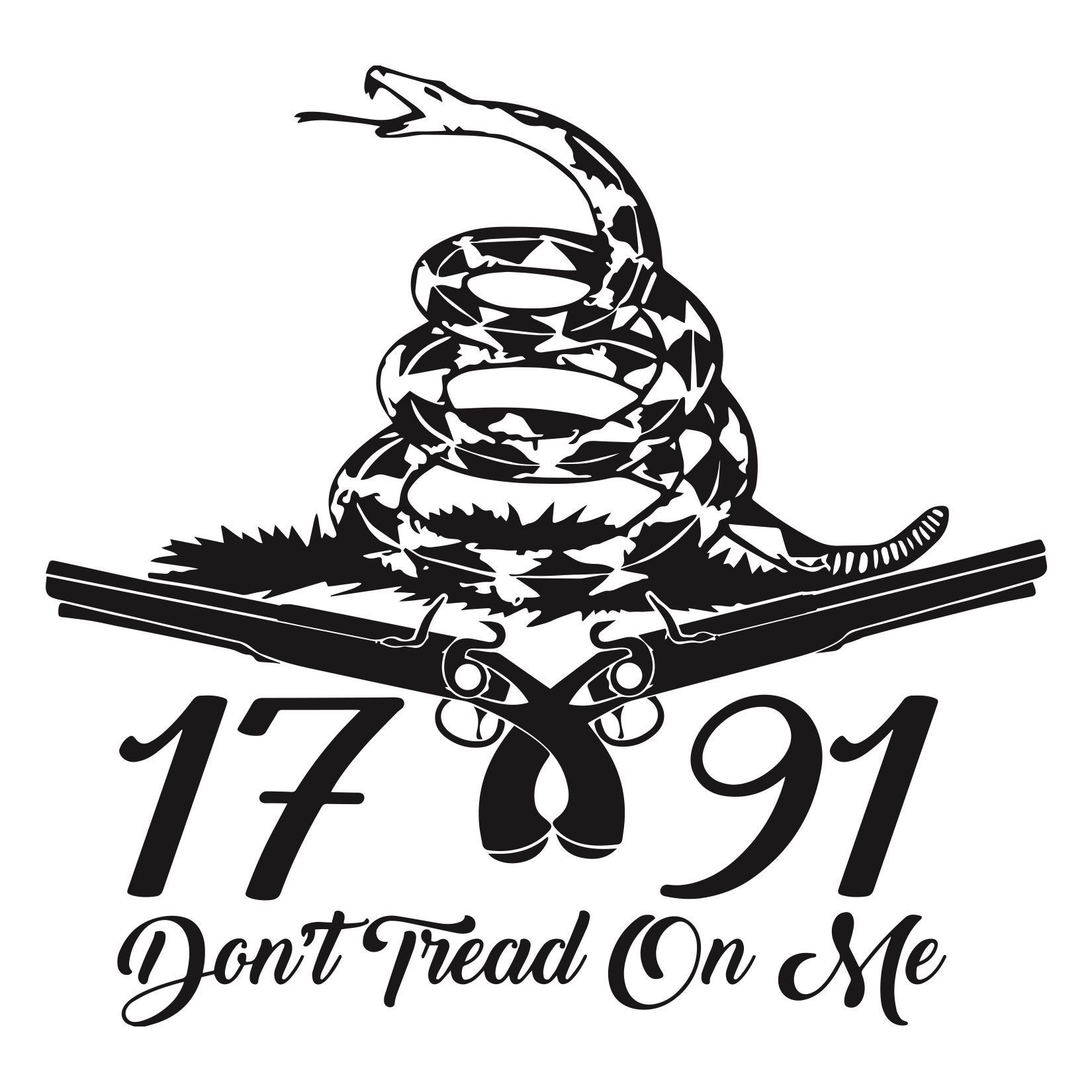 Don T Tread On Me Vinyl Sticker 5 25 X5 25