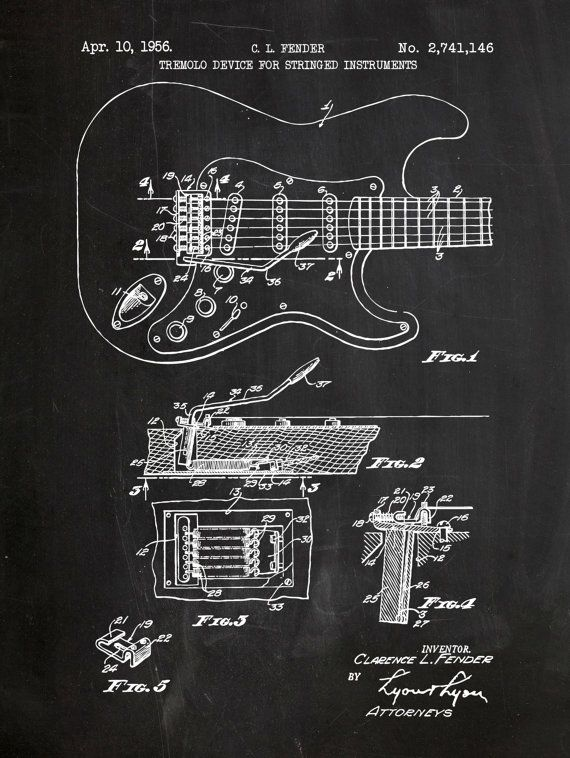 Fender Stratocaster Guitar - Music & Audio Patent - screen ... on squier strat schematic, strat pickups schematic, mesa boogie schematic, les paul schematic, fender precision schematic, fender esquire schematic, fender jazz schematic, fender squier schematic, fender broadcaster schematic, fender toronado schematic, fender mustang schematic, fender bass schematic, distortion schematic, fender telecaster schematic, floyd rose schematic, fender nocaster schematic,