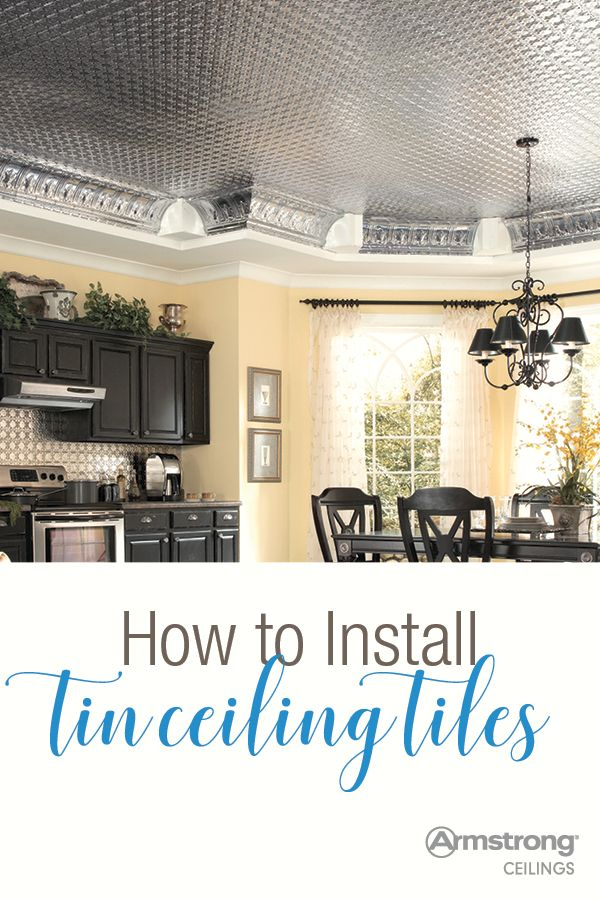 Installing Ceiling Tiles Ceiling Tiles Ceilings And Tin Ceilings