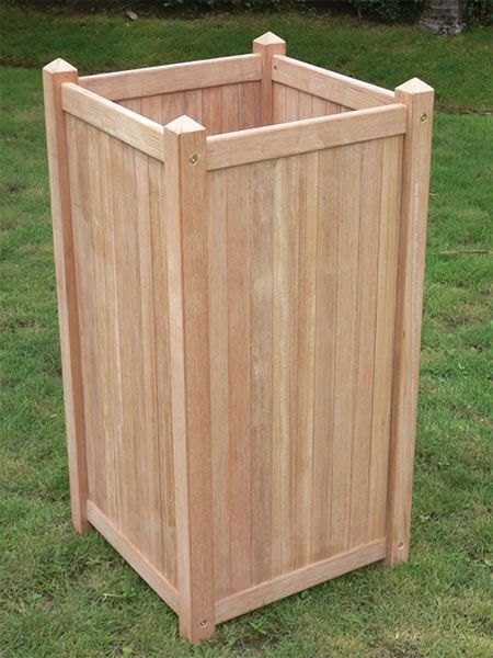 tall wooden planters google search green thumb. Black Bedroom Furniture Sets. Home Design Ideas