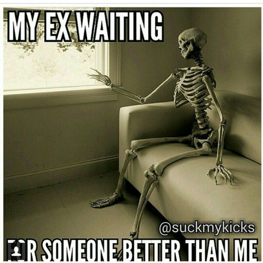 My ex waiting...