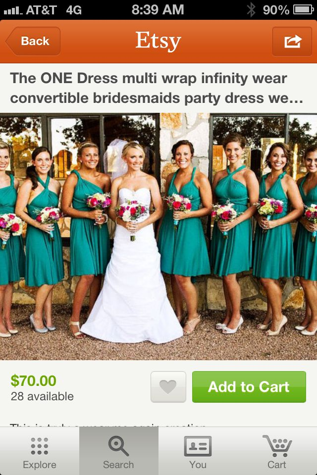 Bridesmaid dresses that convert to different styles! From Etsy.com