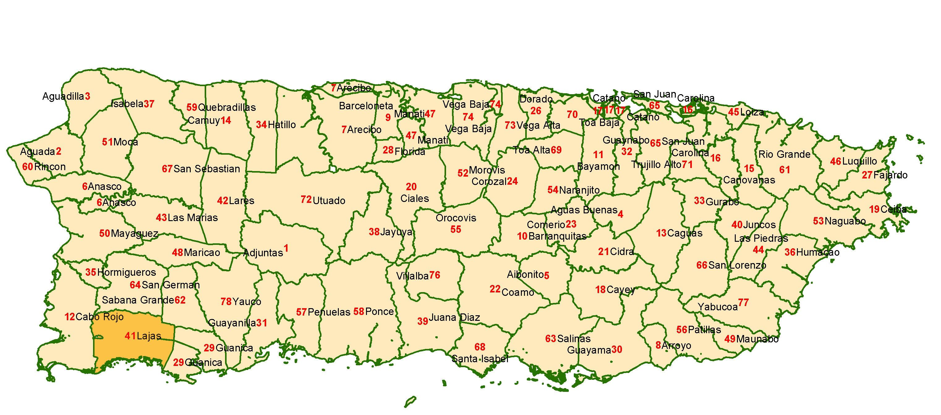 pictures of puerto rico | Large detailed administrative map of Puerto Rico. Puerto Rico large ...