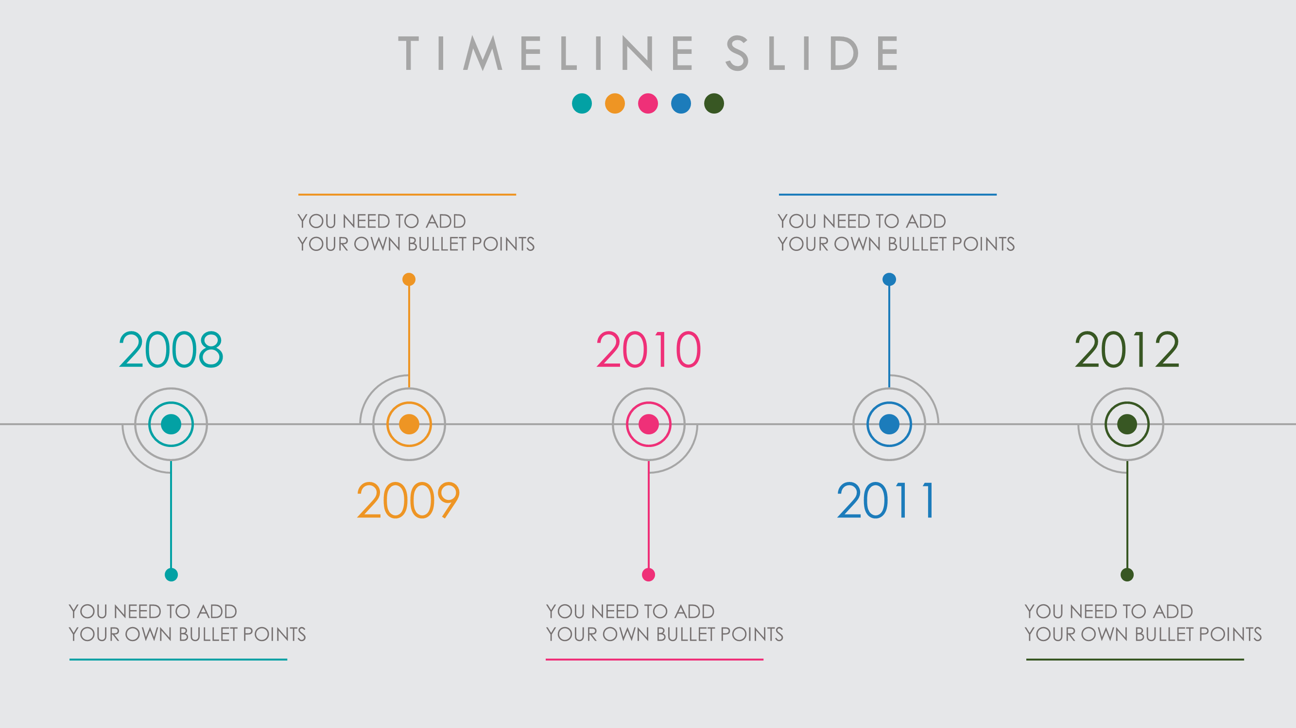 powerpoint timeline template design infographic