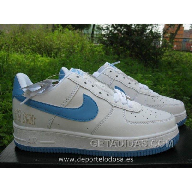 Nike Lunar Force 1 Low Hombre Blanco Light Azul (Nike Air ...