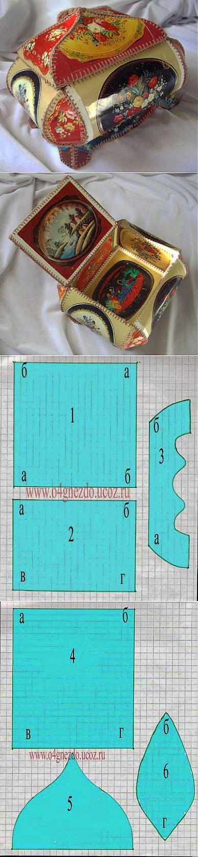 Надписью, схема как сделать шкатулку из открыток своими руками