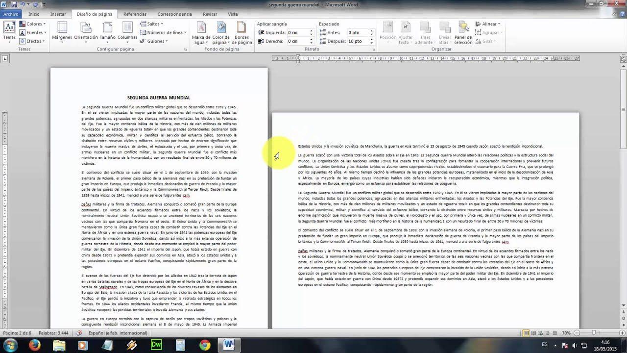 Tutorial Word Como Poner En Horizontal Solo Una Hoja O Pagina Hoja De Word Tutoriales Orientacion