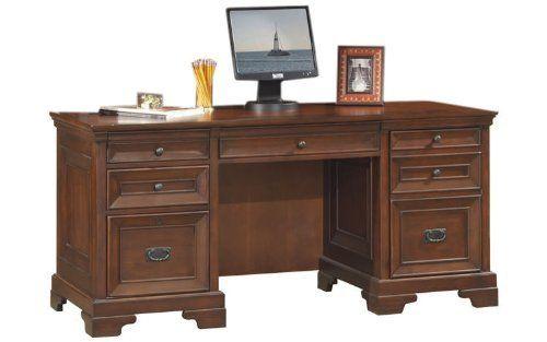"Warm Cherry Executive Desk Home Office Collection: 66"" Executive Desk By Aspen Home By Aspen Home. $1439.00"
