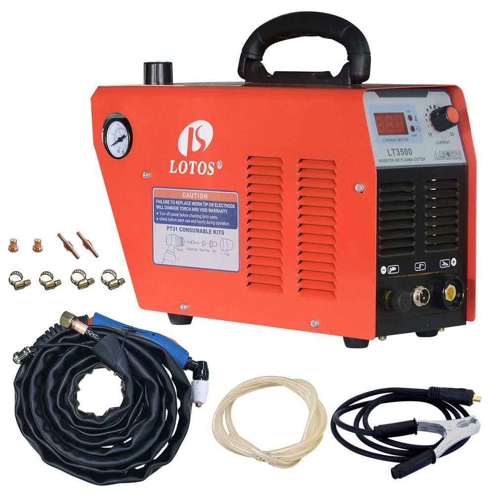 Remarkable Lotos 35 Amp Compact Inverter Plasma Cutter For Metal 110V 120V Wiring Cloud Inamadienstapotheekhoekschewaardnl