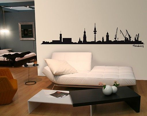 Wandgestaltung Hamburg wandtattoo skyline no sf475 hamburg skyline skyline skylines