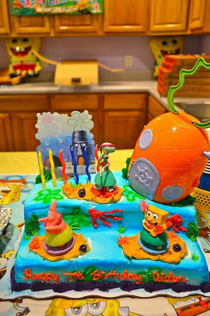 Spongebob Cake Party Ideas Birthday Sheet Cakes Cake