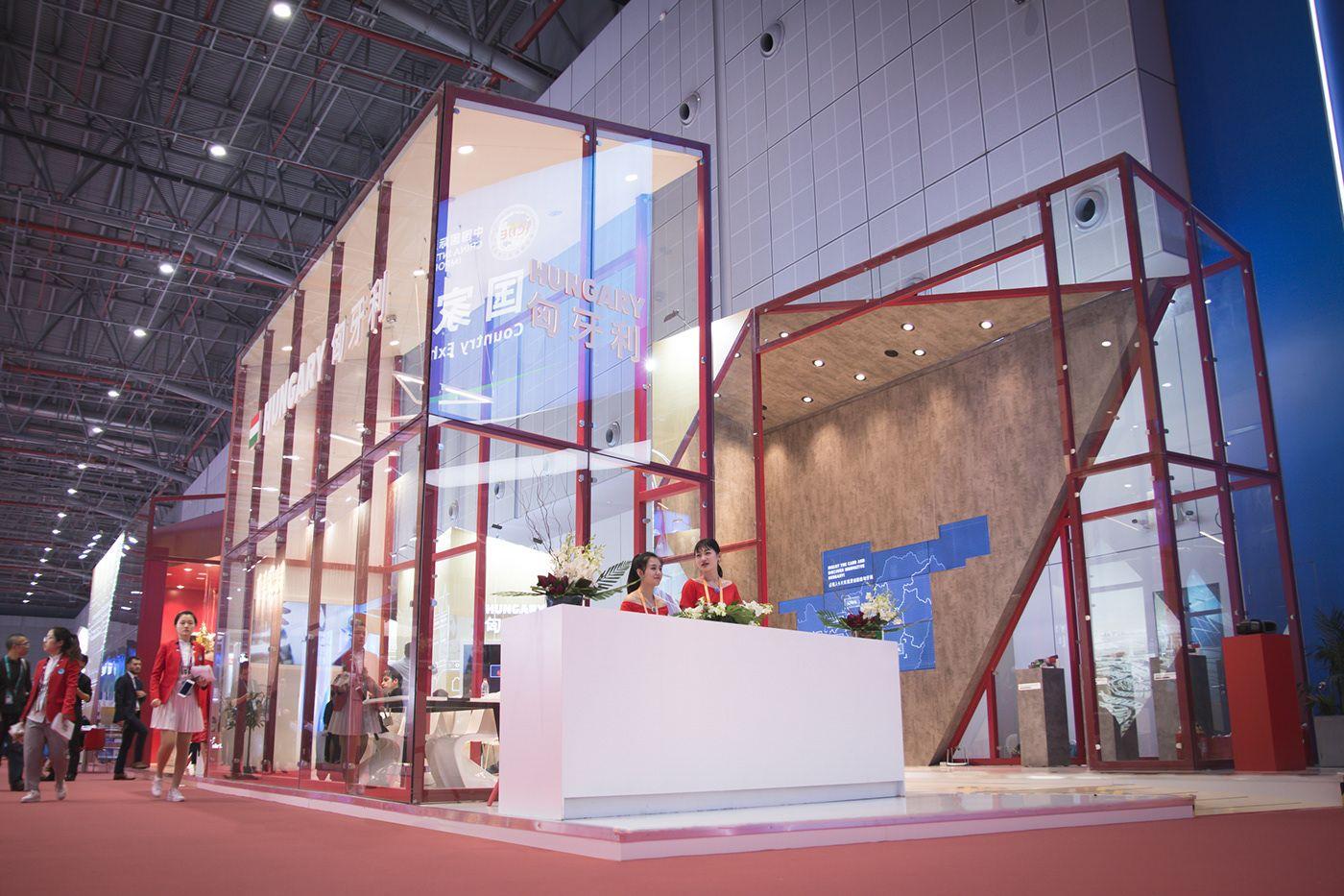 Ciie 2018 Hungarian Pavilion On Behance Interior Design Concepts Booth Design Pavilion