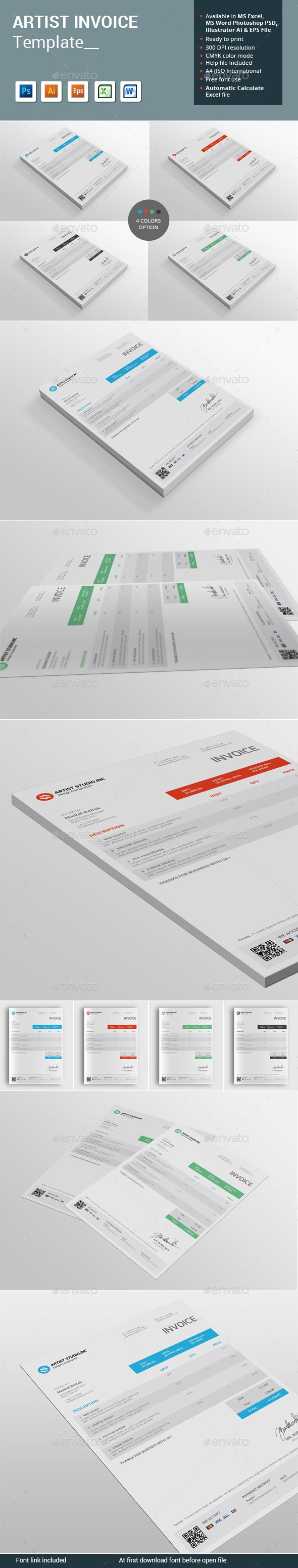 proposal template for word%0A Artist Invoice Template
