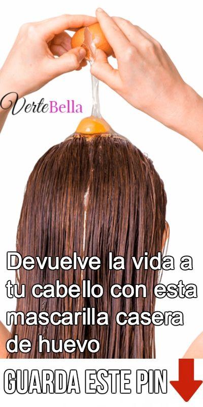 mascarilla para alisar el cabello con huevo