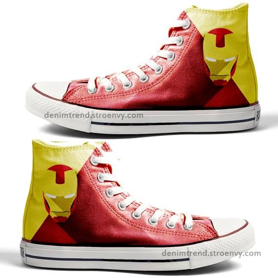 093e40663e2a98 Hand Painted Ironman Custom Converse Shoes ! ! -Free Shipping Worldwide  -Your order will