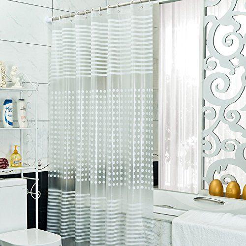 Polka Dot Striped Shower Curtain Peva Extra Wide Shower Curtain Or Shower Curtain Liner Welwo Http Www Amazo Curtains Shower Curtain Printed Shower Curtain