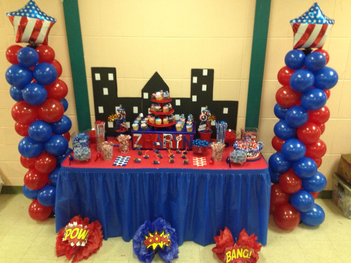 Captain America Party Decorations Balloon Column City