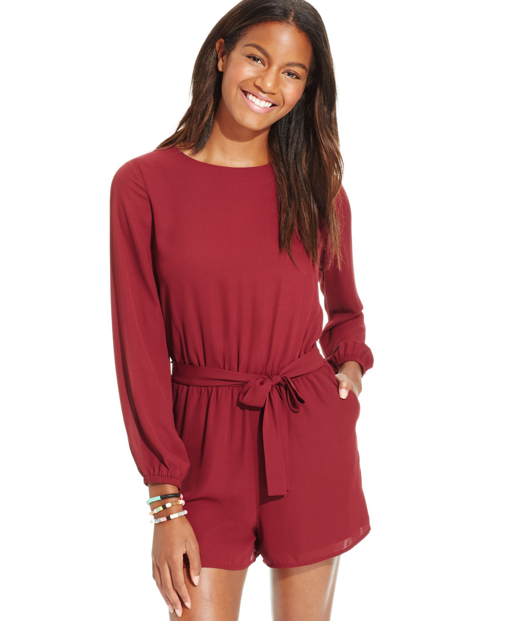 Jumpsuits & Rompers for Juniors. Find an outfit that's both chic and effortless with jumpsuits and rompers for juniors from Belk. Find floral prints just right for a breezy weekend look, and juniors' jumpsuits with ruffled details or lace accents for a festive night out.