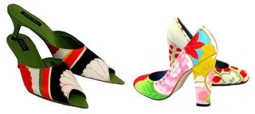 19f4beacd48 Wow - love these. Hand made shoes by Hetty Rose made from Kimono ...
