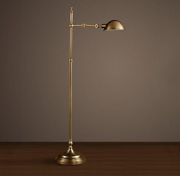 Franklin Pharmacy Task Floor Lamp Antique Brass Antique Floor Lamps Lamp Floor Lamp