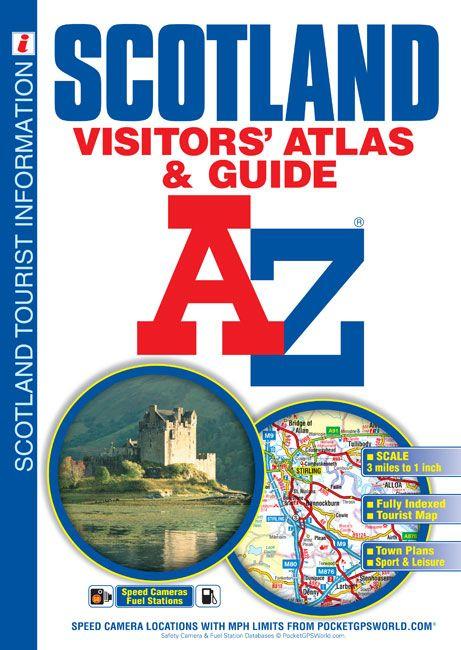 A Z Map Of England.Scotland A Z Visitors Atlas Guide Scotland Ne England Atlases