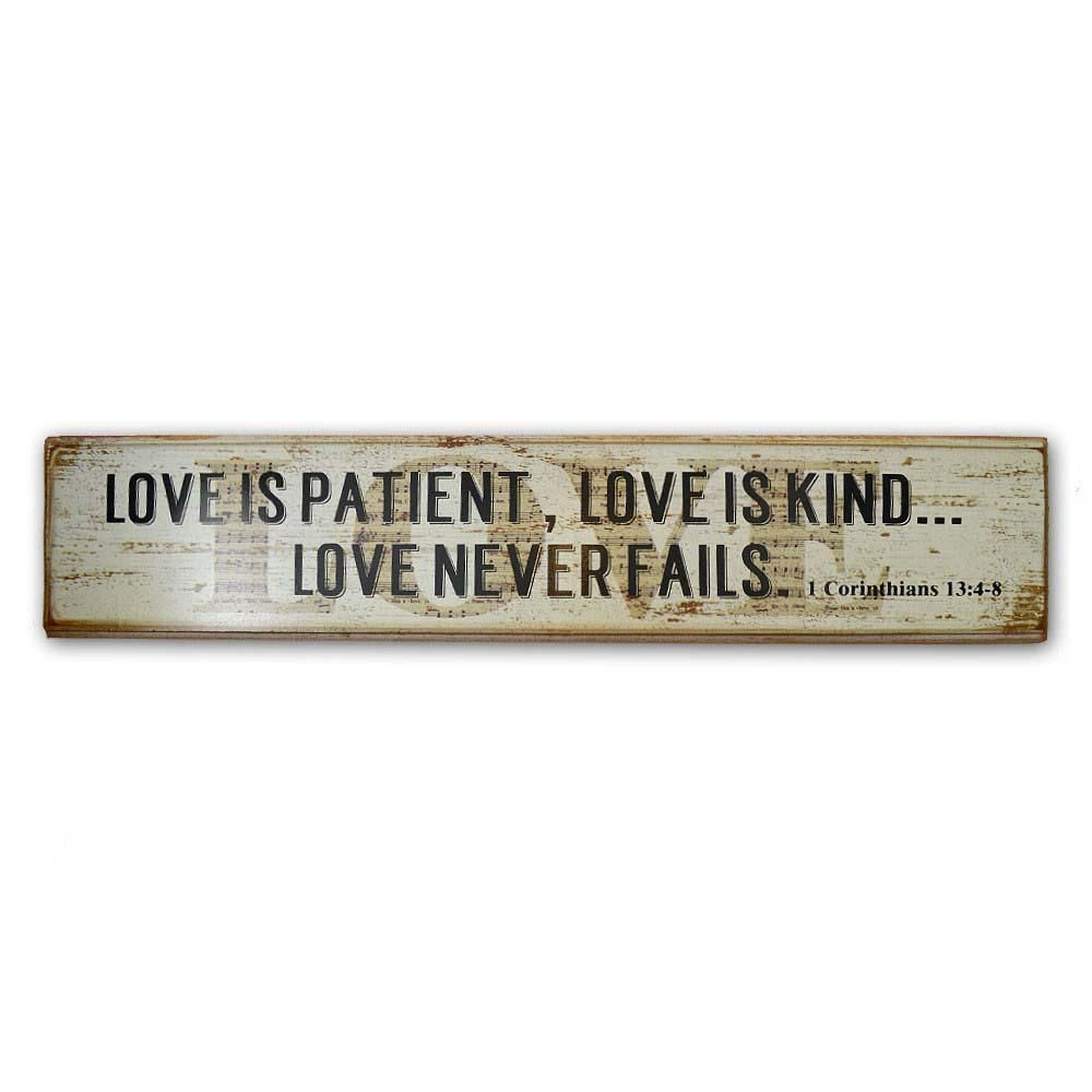 85dcdbacb86edc Wall Plaque - Long - Love is Patient Love Is Patient