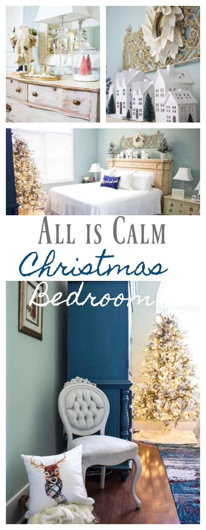 All is Calm Christmas Bedroom Christmas bedroom Magnolia wreath