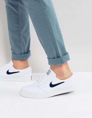 Nike SB Zoom Stefan Janoski Canvas Trainers In White 615957-141 ...