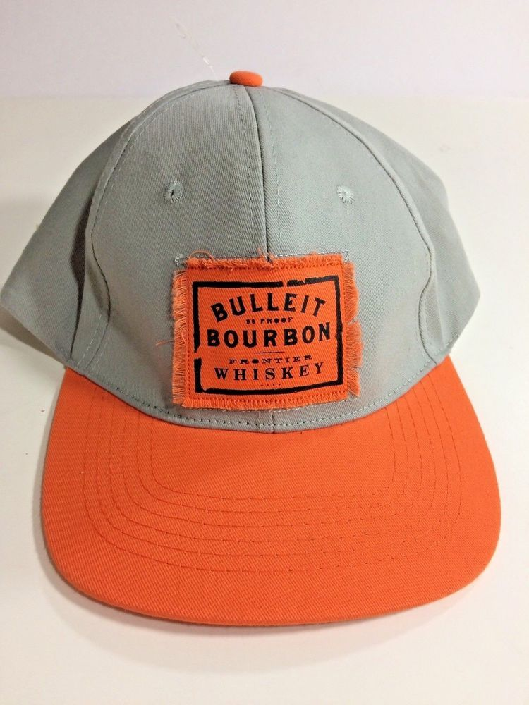 582c5ae8884 Bulleit Bourbon Frontier Whiskey Adjustable Hat CAP Brand New Trucker Snap  Back