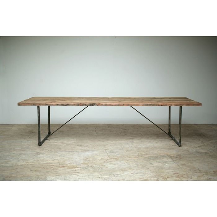 Industrial Modern Dining Room Table: Dining Room Table. Reclaimed Wood And Recycled Industrial