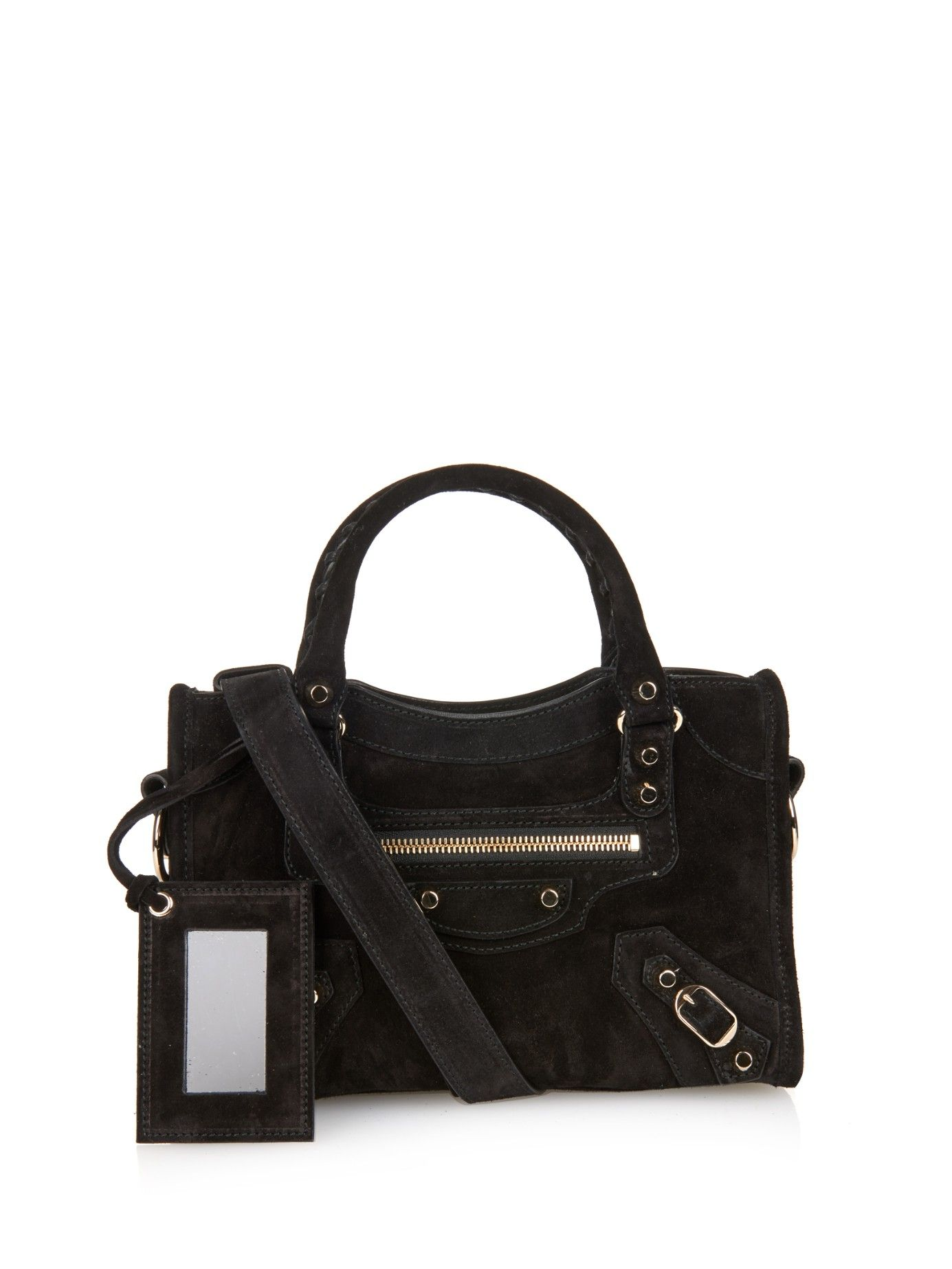 Classic Mini City Suede Cross Body Bag Balenciaga Matchesfashion Com Uk