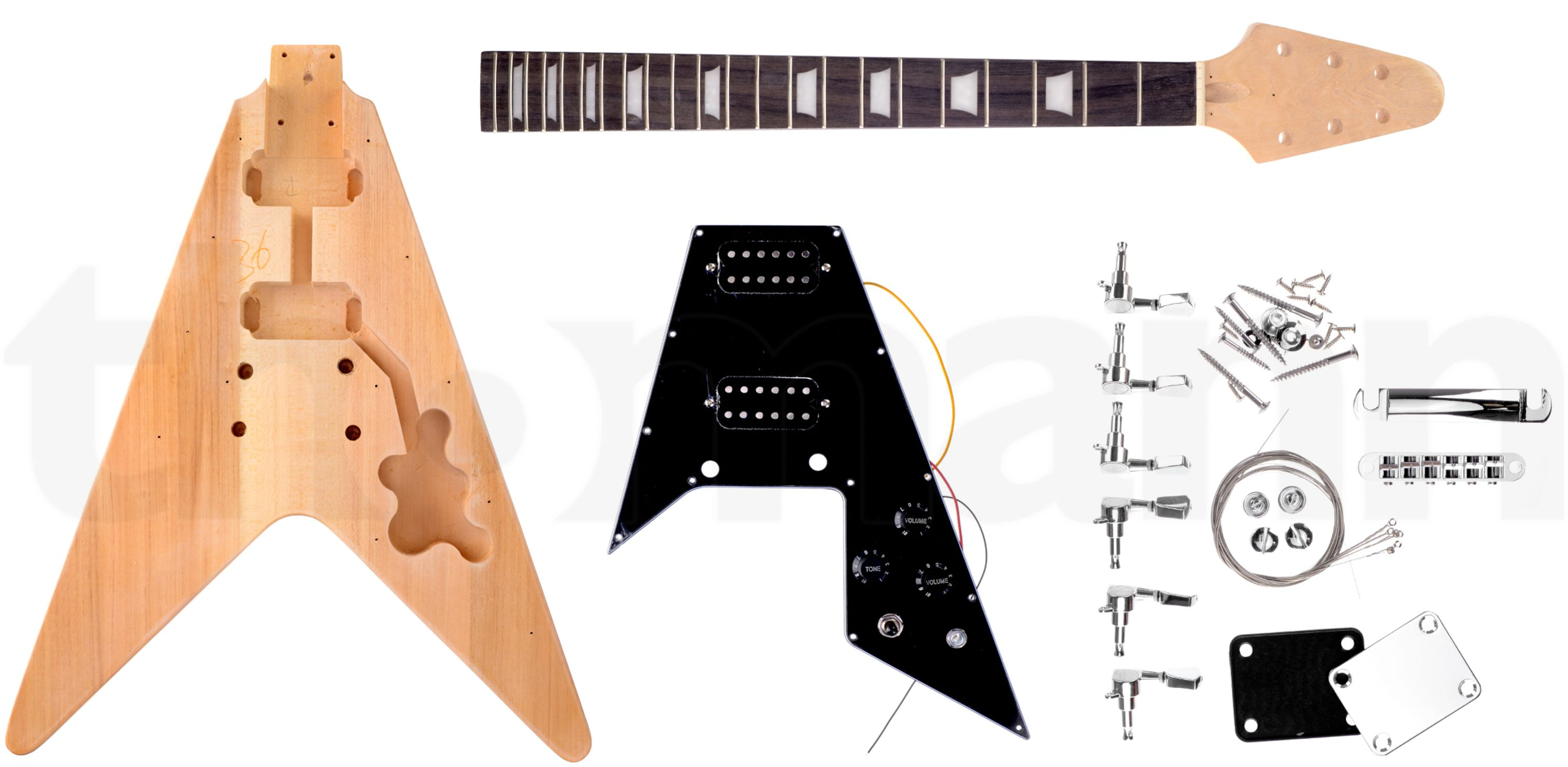 Harley Benton Electric Guitar Kit V Style The Perfect Gift For