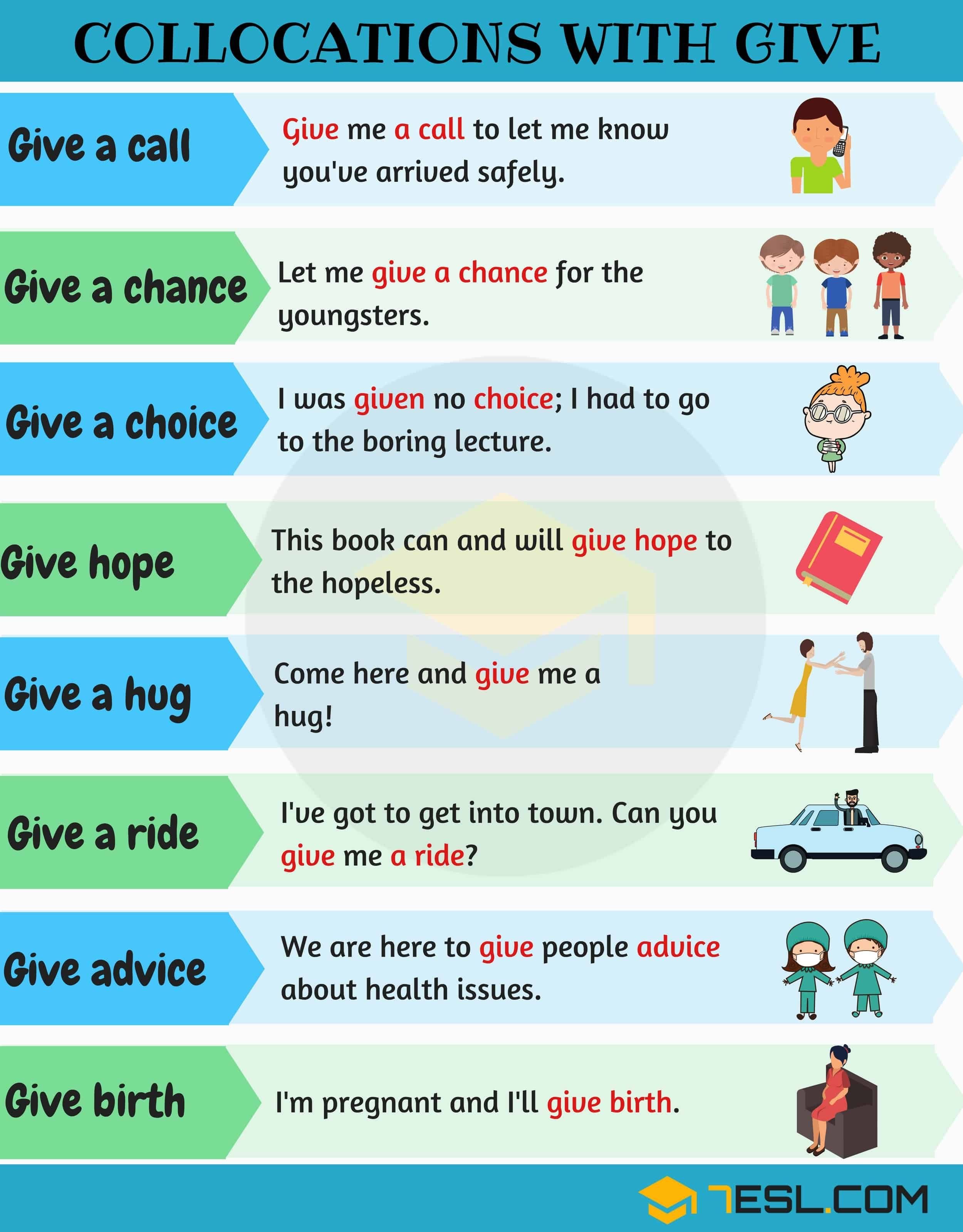 Collocations With Give 29 Useful Expressions With Give