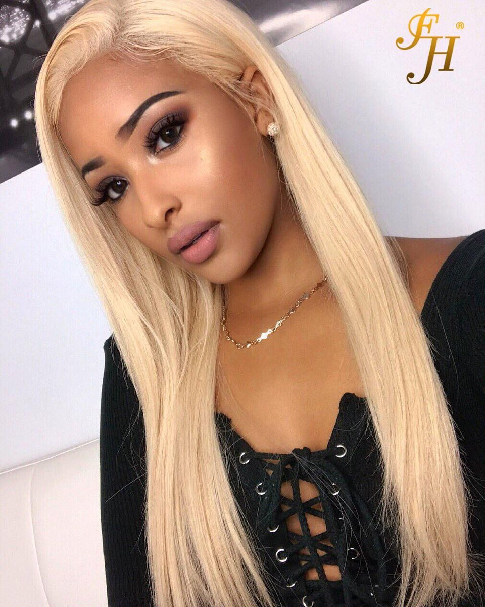 10a top remy blonde hair human 613 hair extension straight