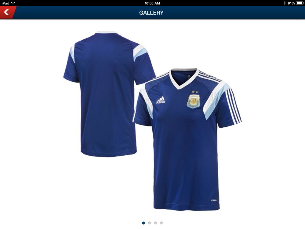 Argentina Adidas 2014 Soccer Training Jersey